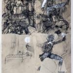 1982-Michail Bulgakov-Mistr a Markétka-lavírovaná kresba-55x41-03