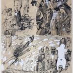 1982-Michail Bulgakov-Mistr a Markétka-lavírovaná kresba-55x41-04