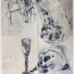 1982-Michail Bulgakov-Mistr a Markétka-lavírovaná kresba-55x41-09