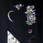 1997-Hale Boppova kometa-kombinovaná technika-100x70-03