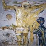 2006-2007-Sen svaté Luitgardy-olej na plátně-118x128